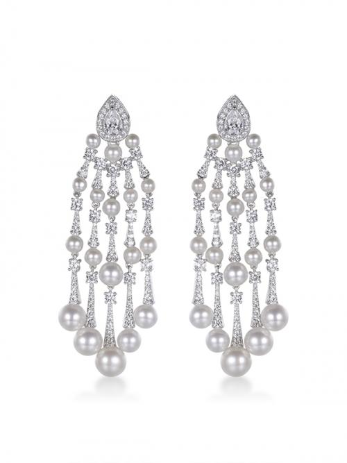 Steven Khalil Aster Drop Earrings